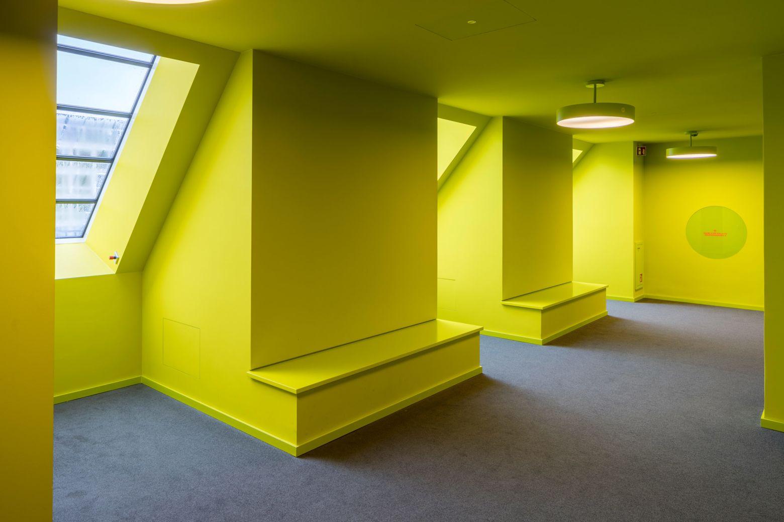 Farbraum Dachgeschoss gelb