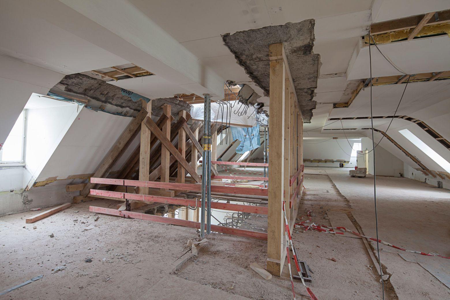 Baustelle Treppenhaus