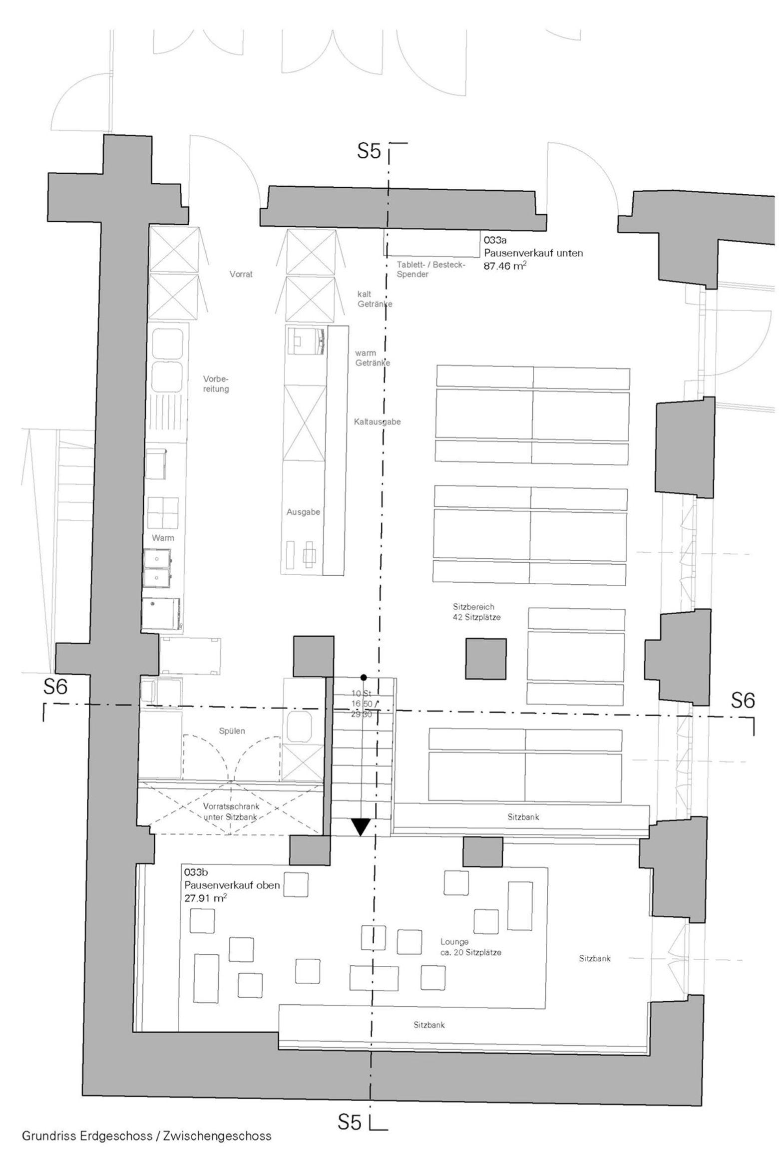 Grundriss Erdgeschoss  Zwischengeschoss