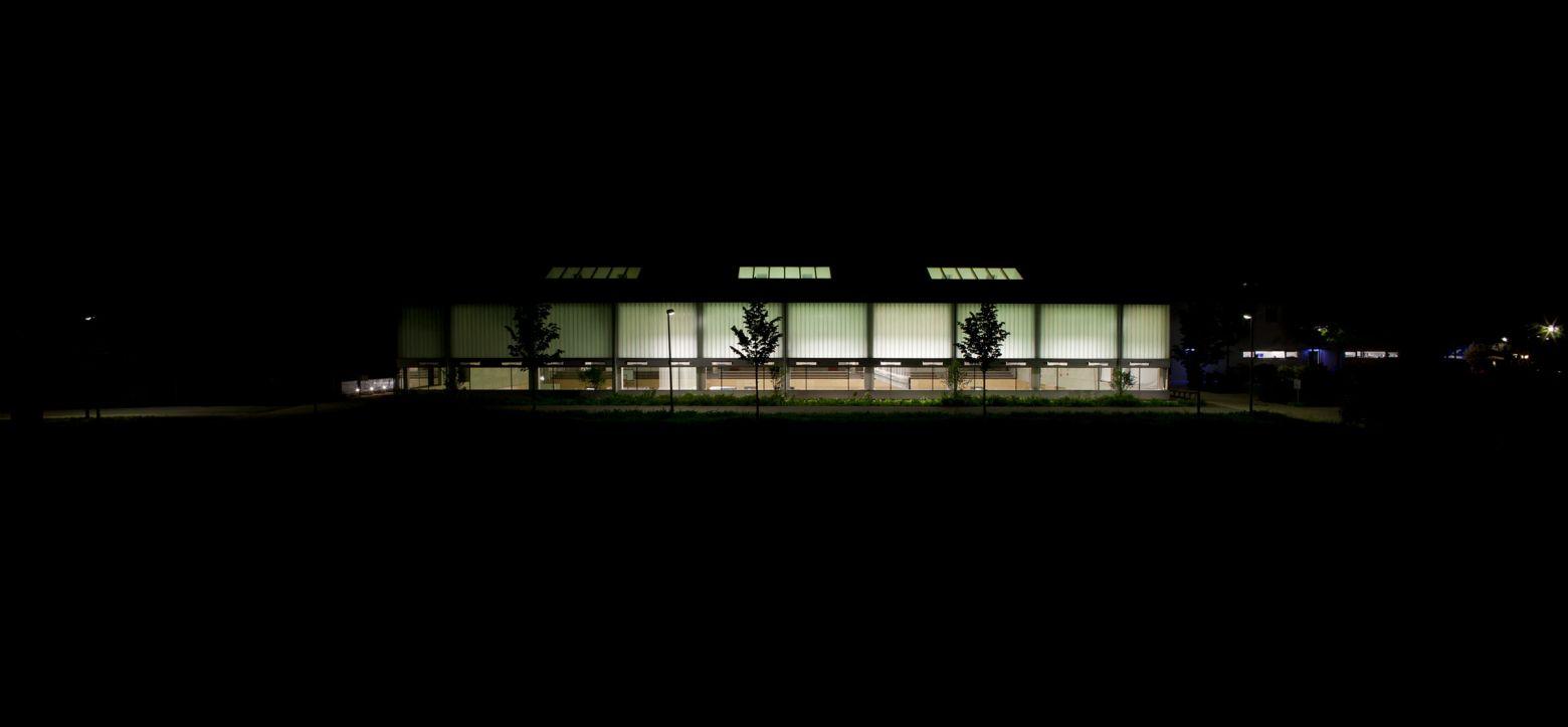 Nordansicht bei Nacht