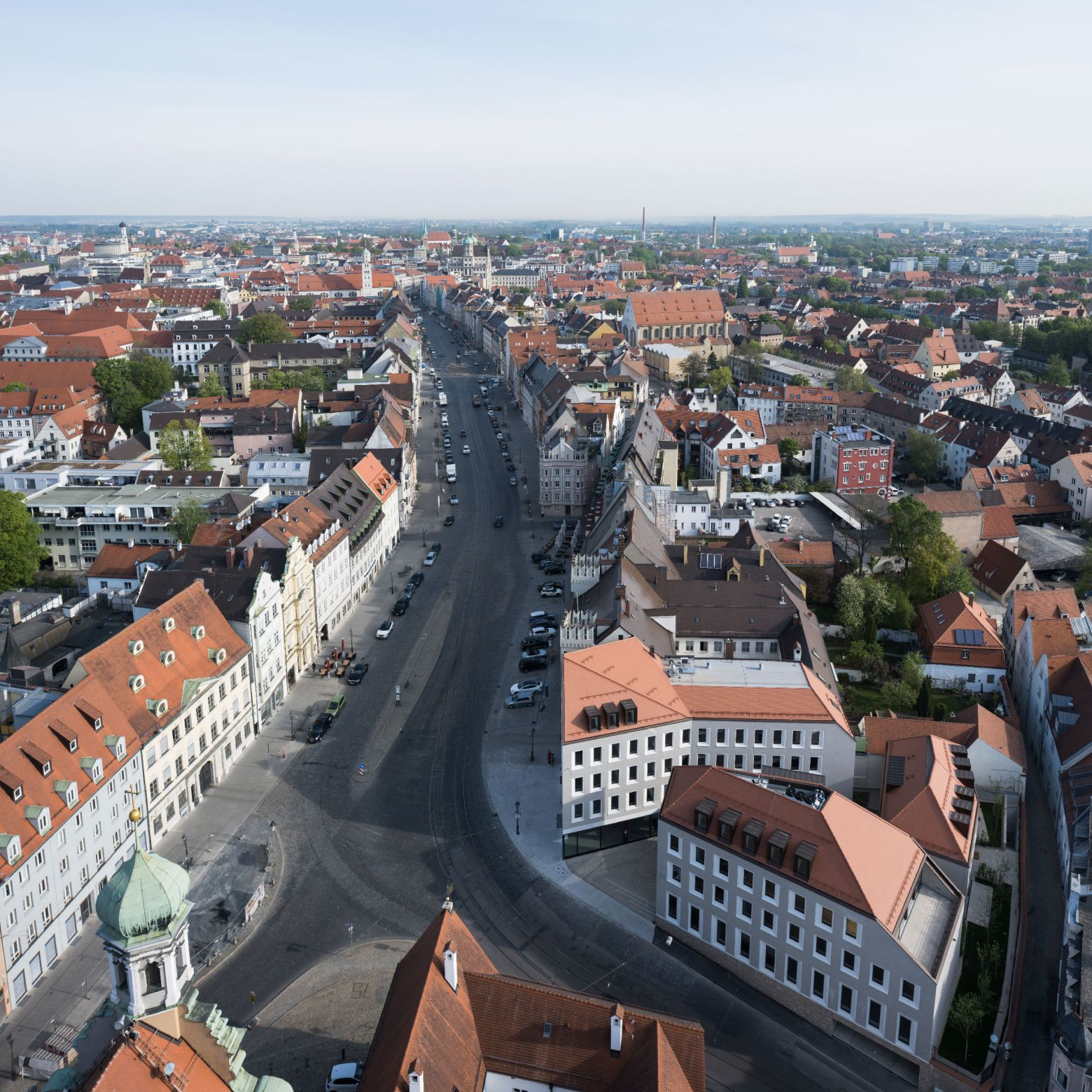 Blick vom Turm St Ulrich