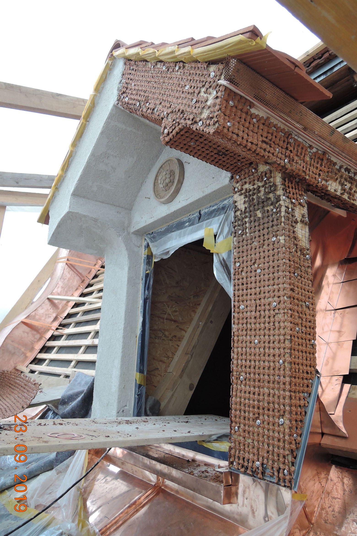 Bauarbeiten Rekonstruktion Dachgauben