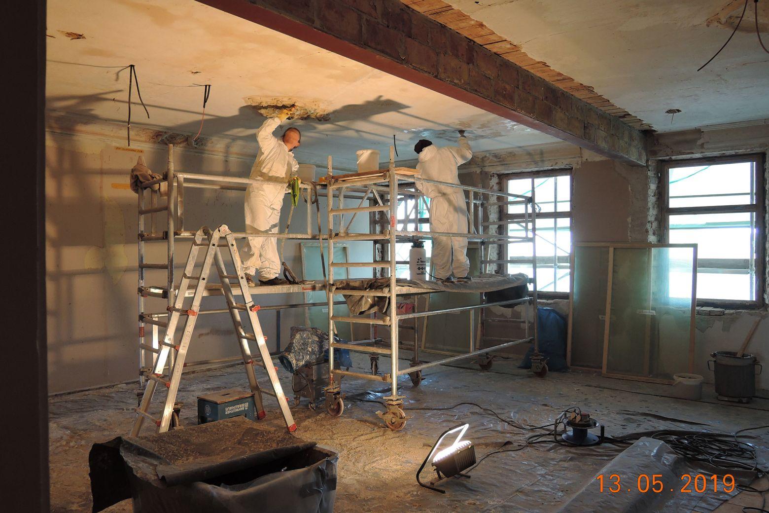 Restaurationsarbeiten Stuckdecken