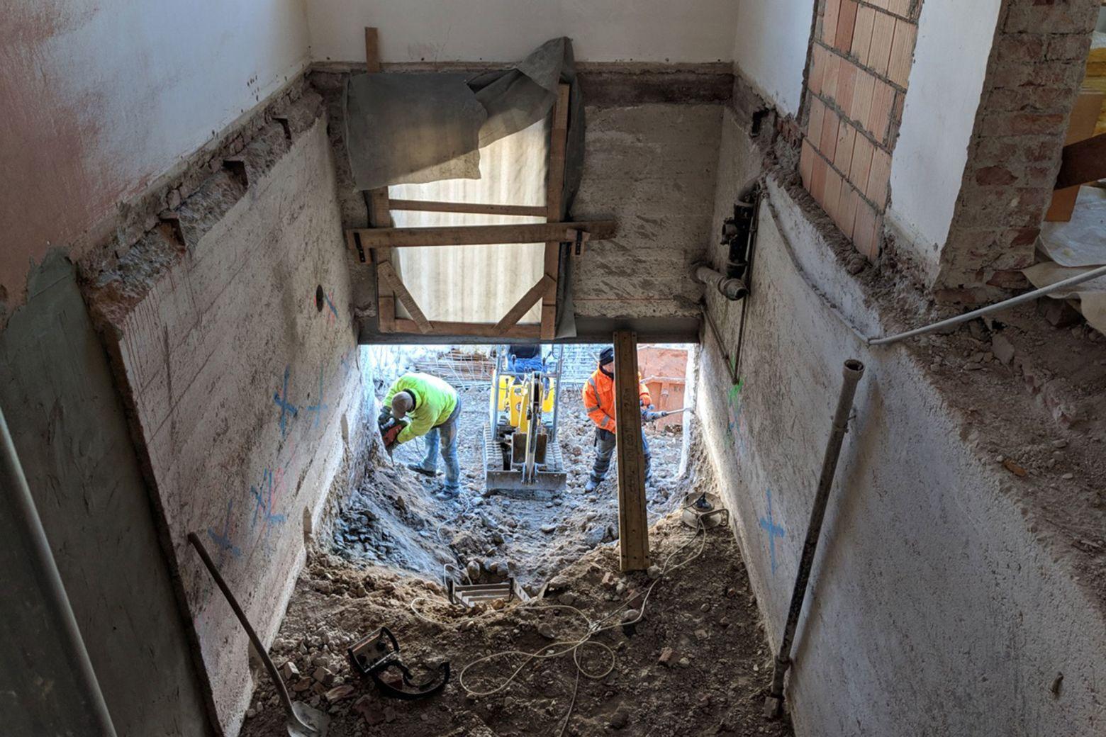 Bauzustand Treppenhaus