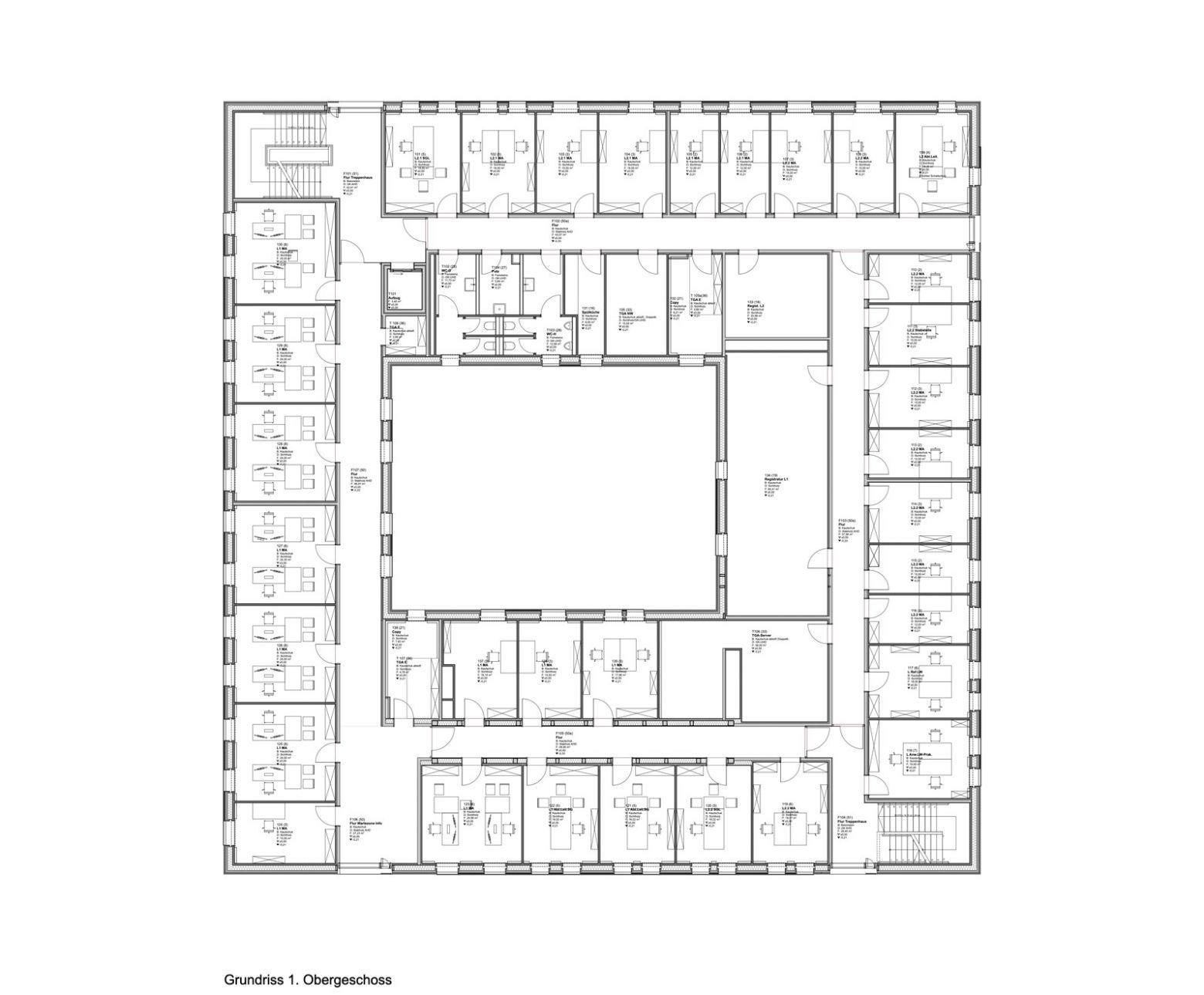 Grundriss erstes Obergeschoss
