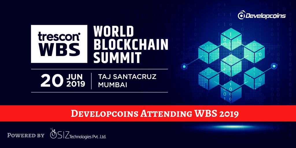 World Blockchain Summit India 2019 | Developcoins Attending The Biggest Blockchain Summit 2019