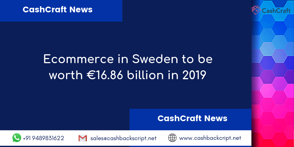 The next big thing is eCommerce in Sweden to be worth €16.86 billion in 2019