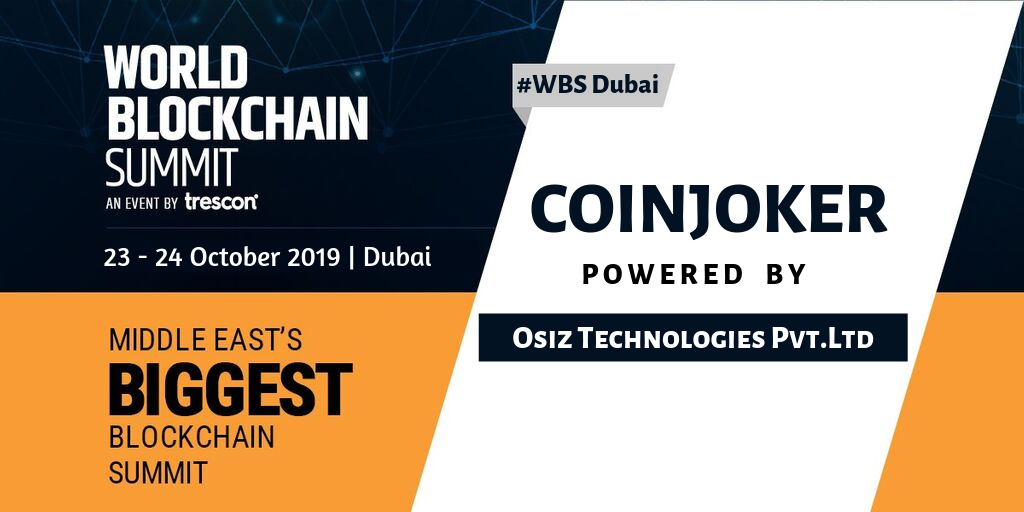 Coinjoker appear at world blockchain summit on dubai
