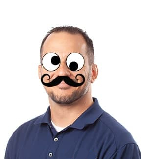 My goofy mustached profile pic
