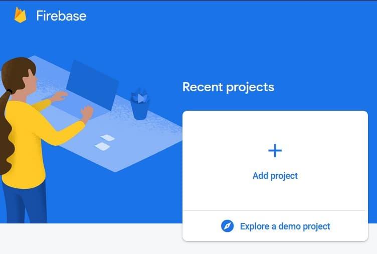 Firebase Add new project ><