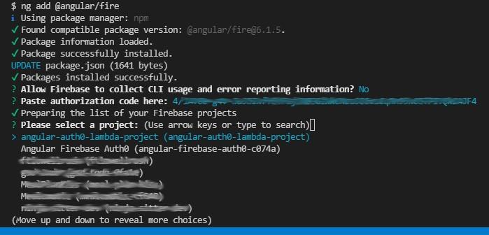 Firebase CLI Login ><