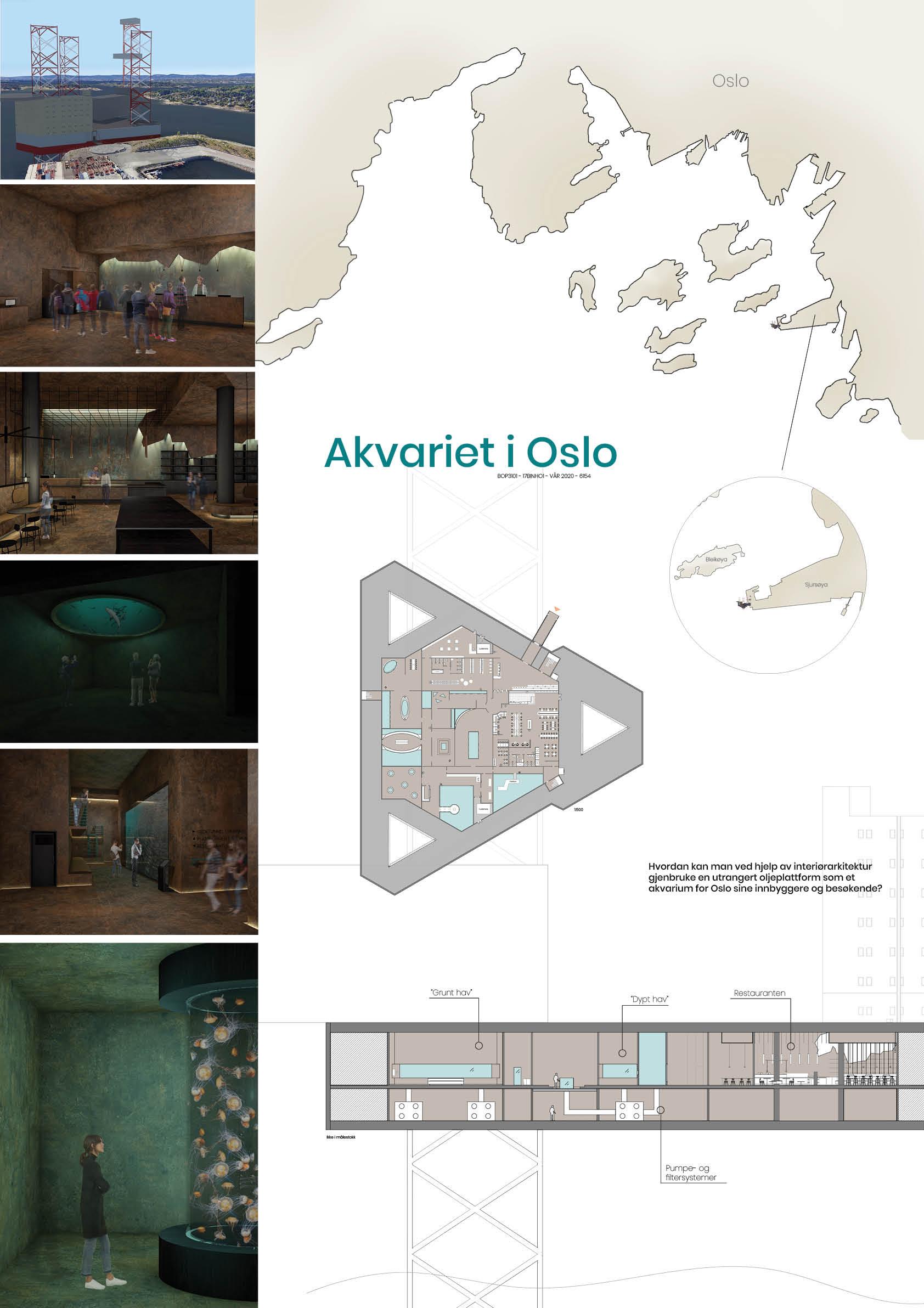 Westerdals Institutt for Kommunikasjon og Design - Akvariet i Oslo: Gjenbruk av en utrangert oljeplattform