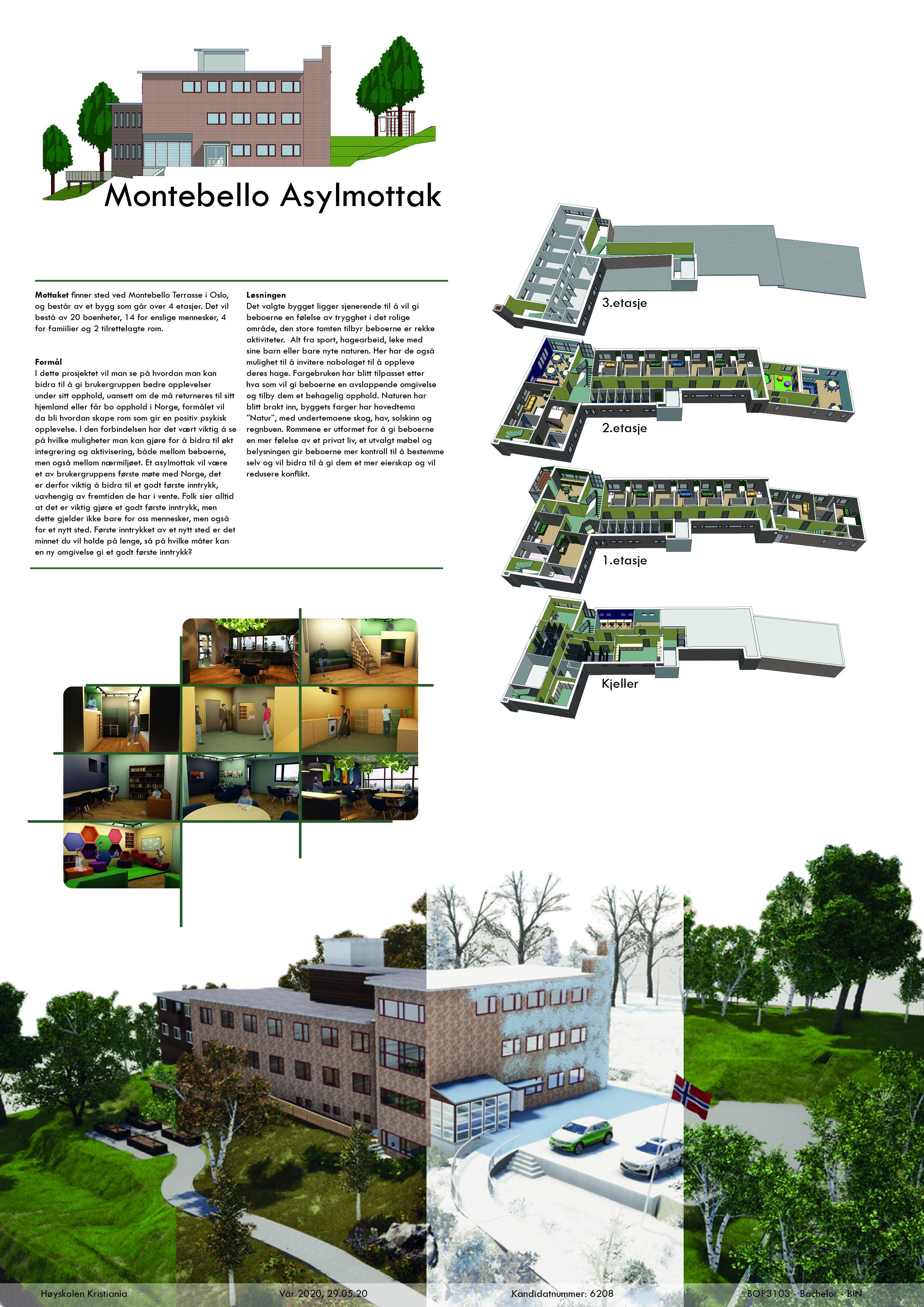 Westerdals Institutt for Kommunikasjon og Design - Montebello Asylmottak