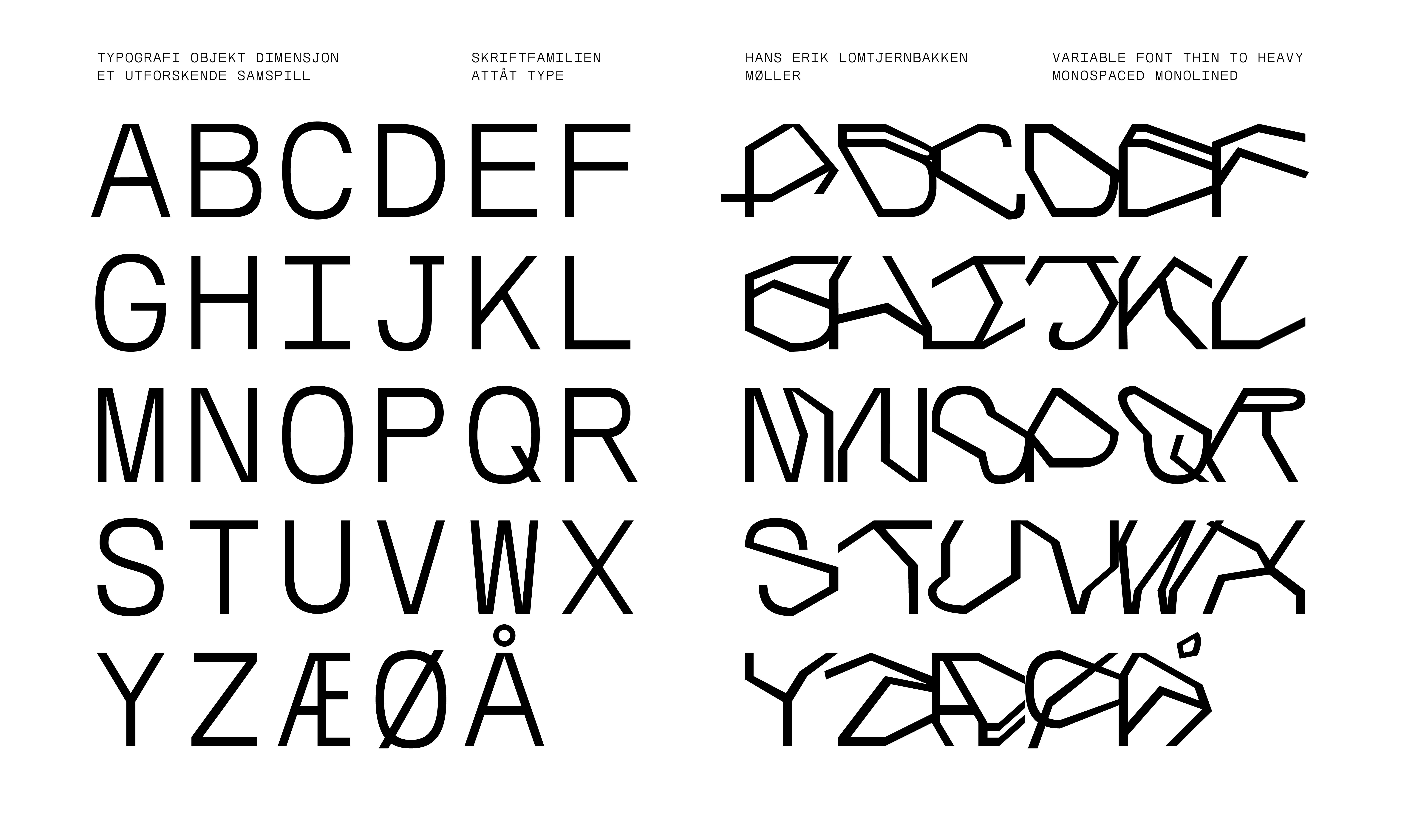 Westerdals Institutt for Kommunikasjon og Design - Typografi, objekt, dimensjon – et utforskende samspill