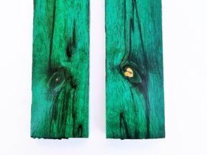 Drewno stabilizowane - zielone bloczek