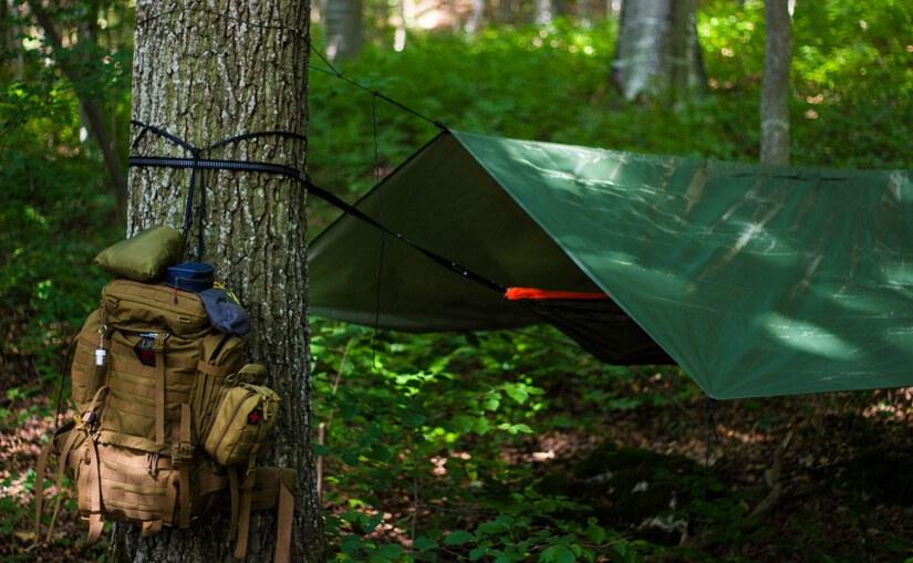 Wyprawa survivalowa - namiot i plecak