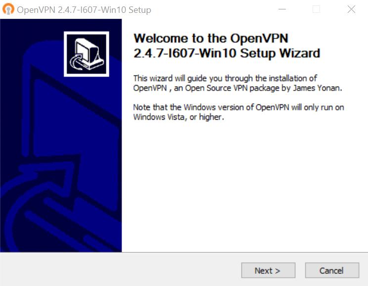 OpenVPN Installation Wizard