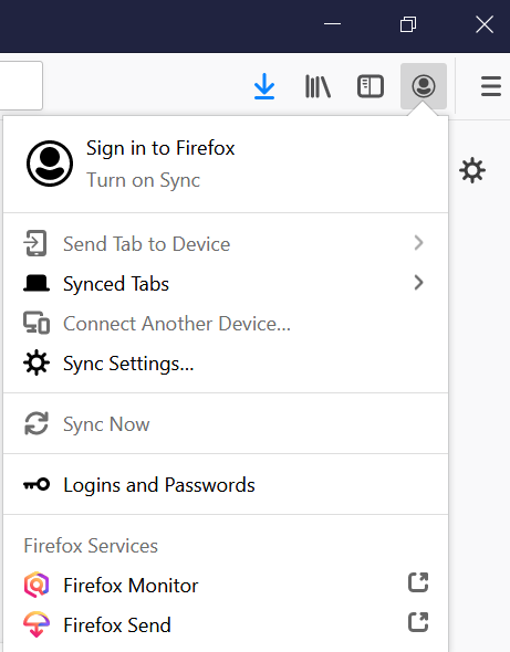 Sign in to Firefox