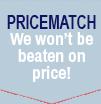 Price Match - We will not be beaten on price