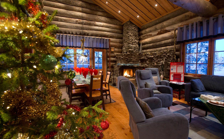 Log Cabin Christmas.Christmas Log Cabin Holidays Lapland Christmas Log Cabins A