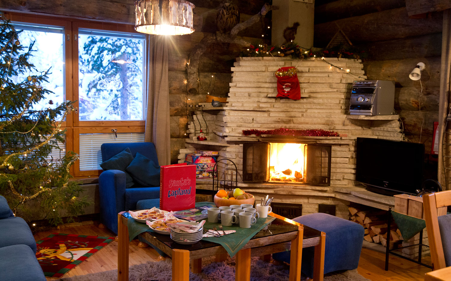 Christmas Cabins - Open Fire