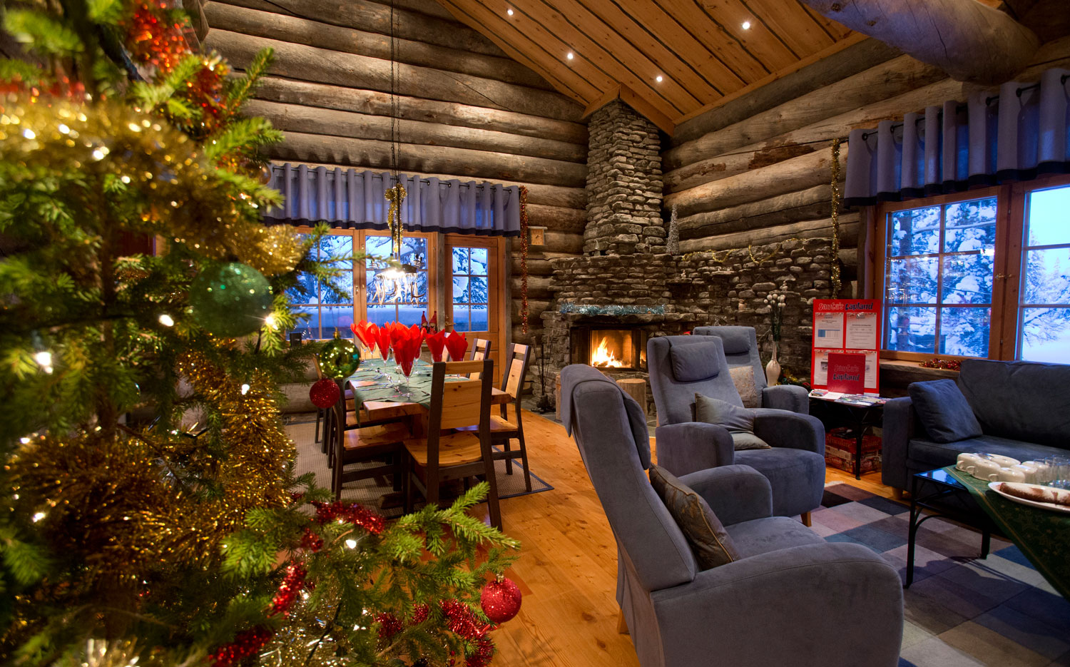 Christmas Cabins - A Typical Cabin Living Room