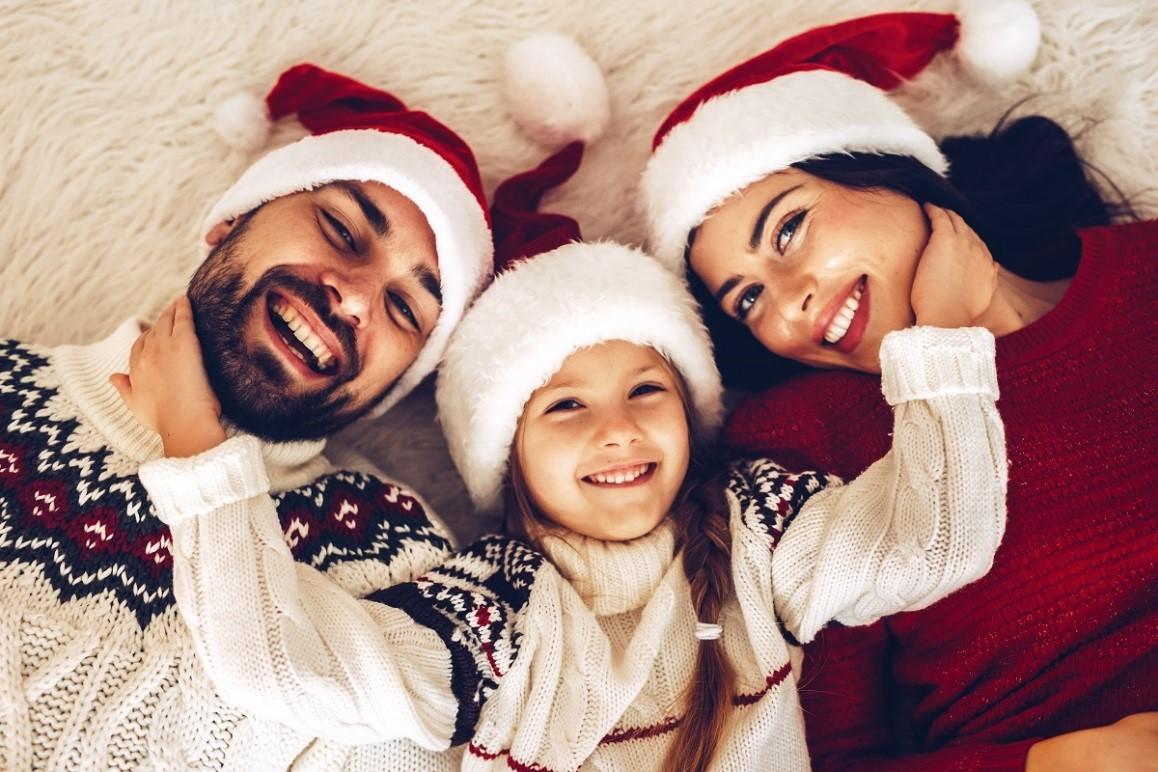 Family enjoying Christmas holiday