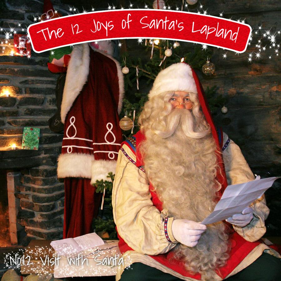 Santa in his Lapland home