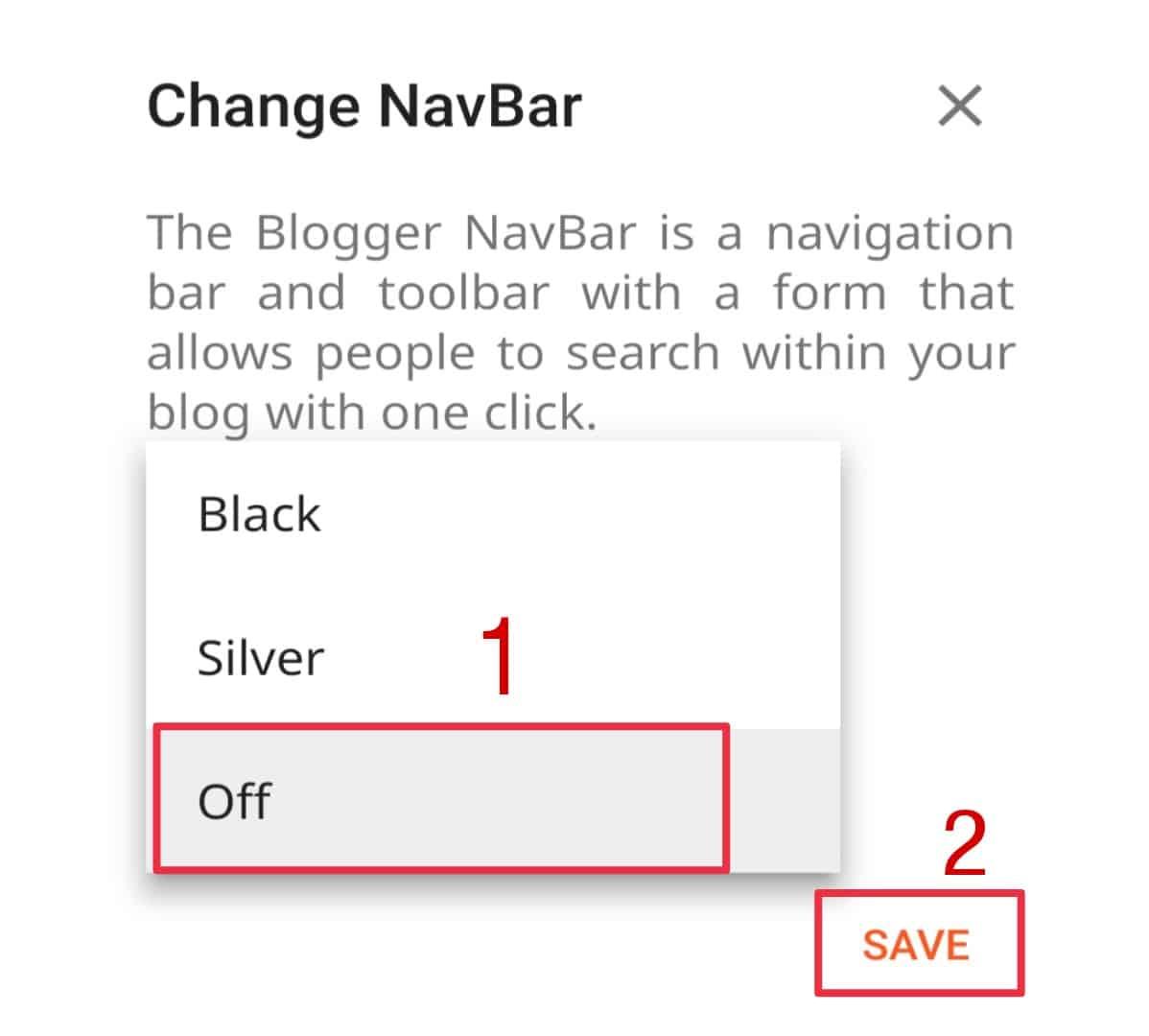 Change Navbar setting in theme