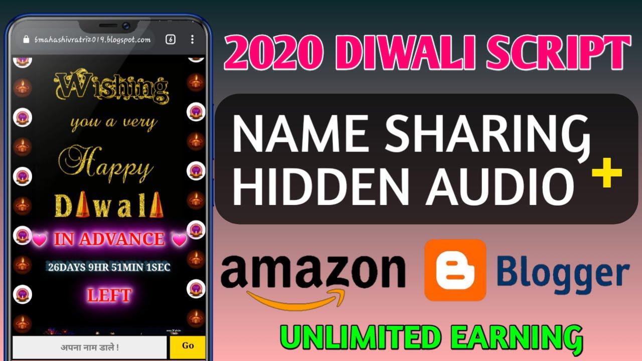 Diwali Wishing Website Script 2020 For Blogger For Free