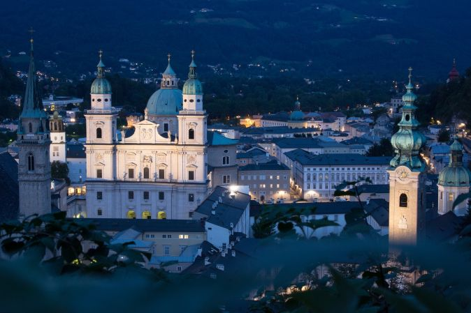 Salzburg v noci