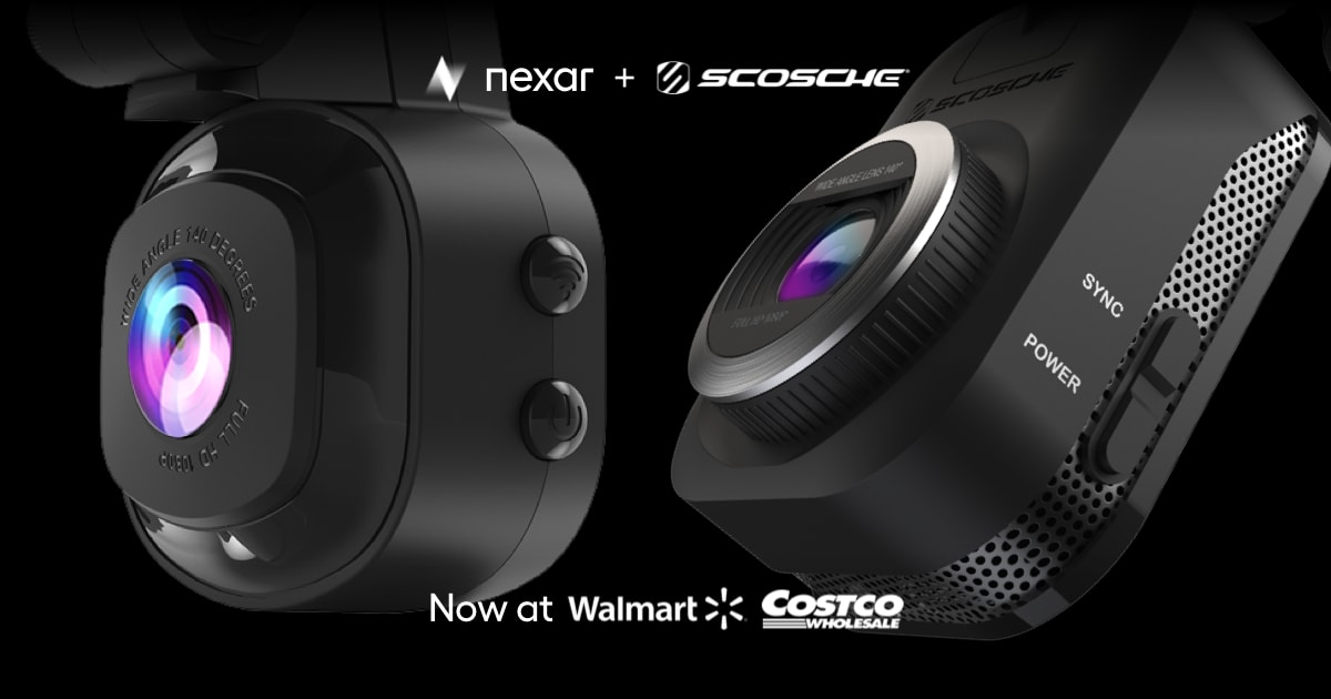 Nexar-powered Scosche cameras are now on sale at Walmart & Costco