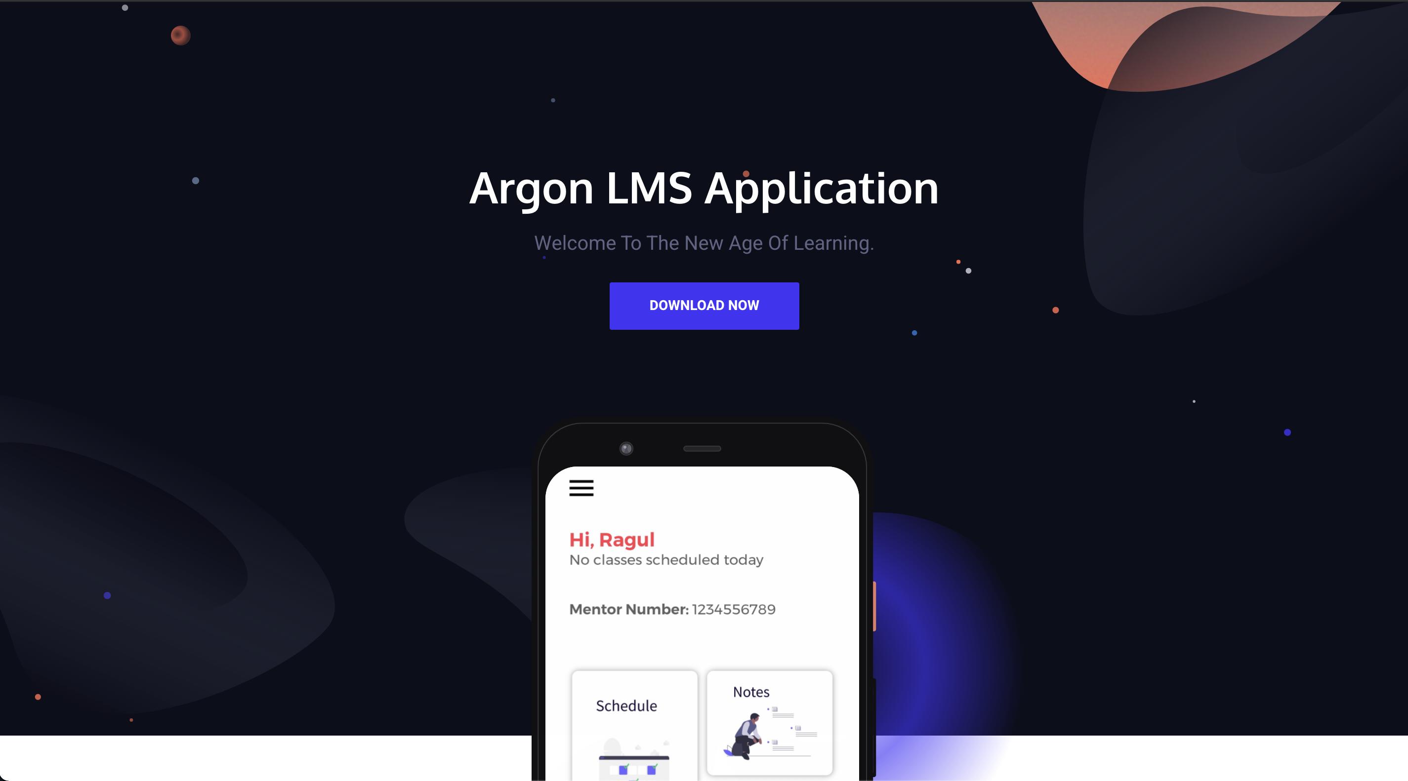 Argon LMS & CMS Application