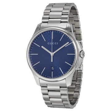 6cf7e2418e8 Gucci G-Timeless Large Blue Diamond Pattern Dial Stainless Steel Men s Watch