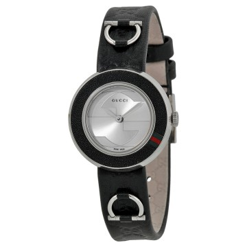 83202ca70db Women s Watches - Gucci U Play Black ssima Leather Strap Ladies ...