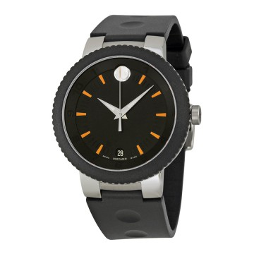 dfb8f7222f77 Men s Watches - Movado Sport Edge Black Dial Black Rubber Strap ...