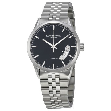 men s watches raymond weil freelancer automatic black dial