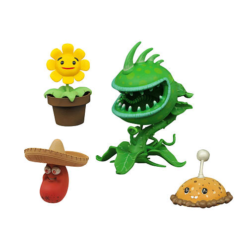 Plants vs Zombies Garden Warfare Series Action Figure - Toxic Chomper with  Accessory Pack 1