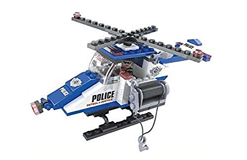 Ausini City Police Search and Rescue Helicopter 126pc Building Blocks  Educational Set Compatible to
