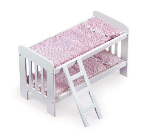 Badger Basket White Rose Doll Bunk Bed with Ladder and Bedding 1157