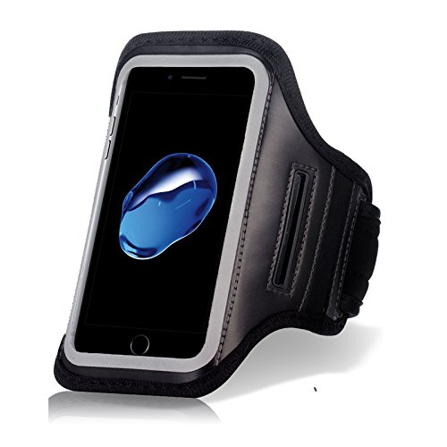 Ahutoru Water Resistant Sports Armband with Key Holder for iPhone 6, 6S  (4 7-Inch), Galaxy S3/S4, iP
