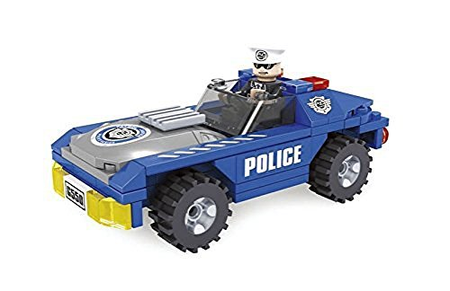 Ausini City Police Car Patrol Unit Building Block Educational Set  Compatible to Lego Parts, 98-Piece