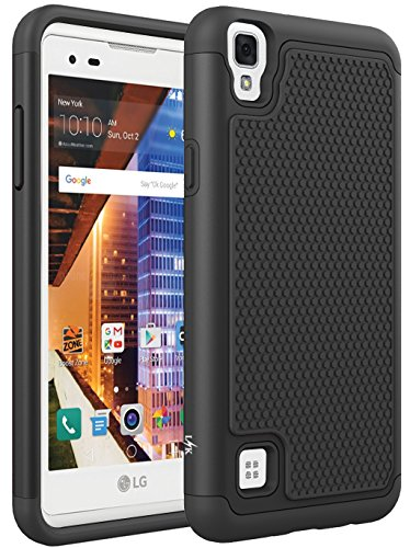 LG Tribute HD Case, LG X Style Case, LG Volt 3 Case, LK [Shock Absorption]  Drop Protection Hybrid Ar