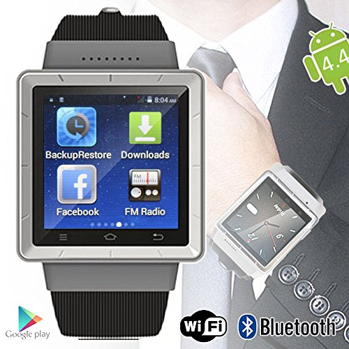 Indigi Android 4 4 Smart Watch Phone (3G+WiFi) Google Play Store Unlocked  AT&T T-mobile Straightalk