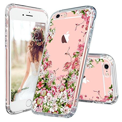 best cheap 13e07 c1163 iPhone 6s Case, iPhone 6 Clear Case, MOSNOVO Floral Printed Flower Clear  Design Transparent Plastic