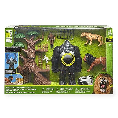 Animal Planet Lights & Sounds Jungle Encounter Mega Playset with Large  Gorilla Figure