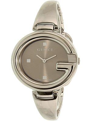 3dfb8a6834e Gucci Women s Guccissima YA134302 Silver Stainless-Steel Swiss Quartz  Fashion Watch