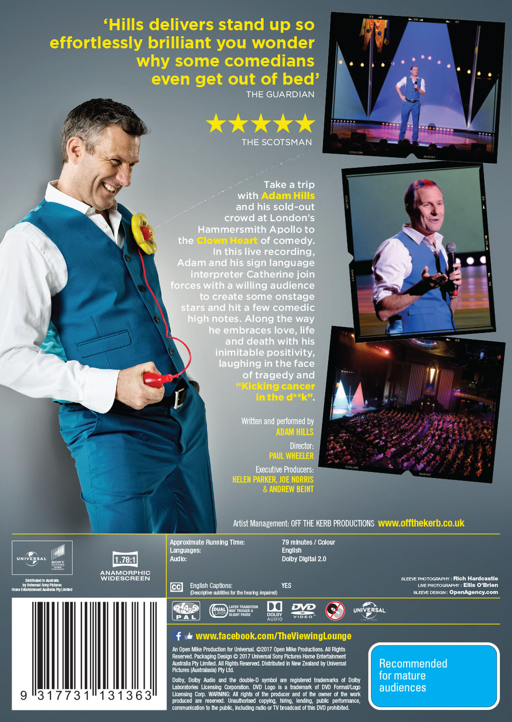 Adam Hills: Clown Heart [DVD]