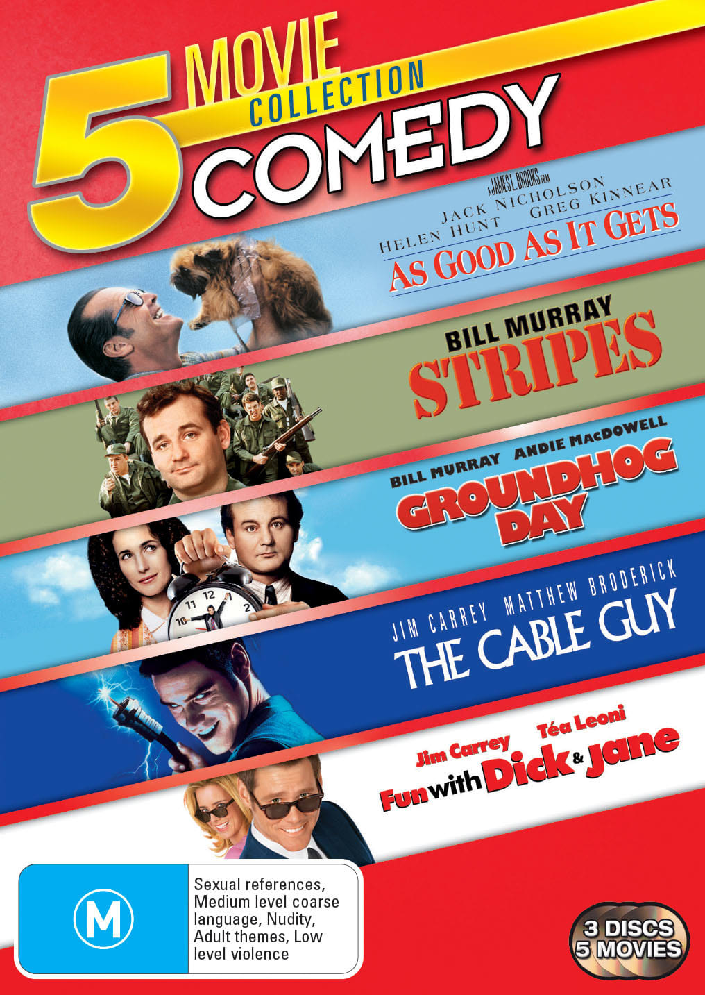 As Good As It Gets/The Cable Guy/Fun With Dick and Jane/Groundhog [DVD]
