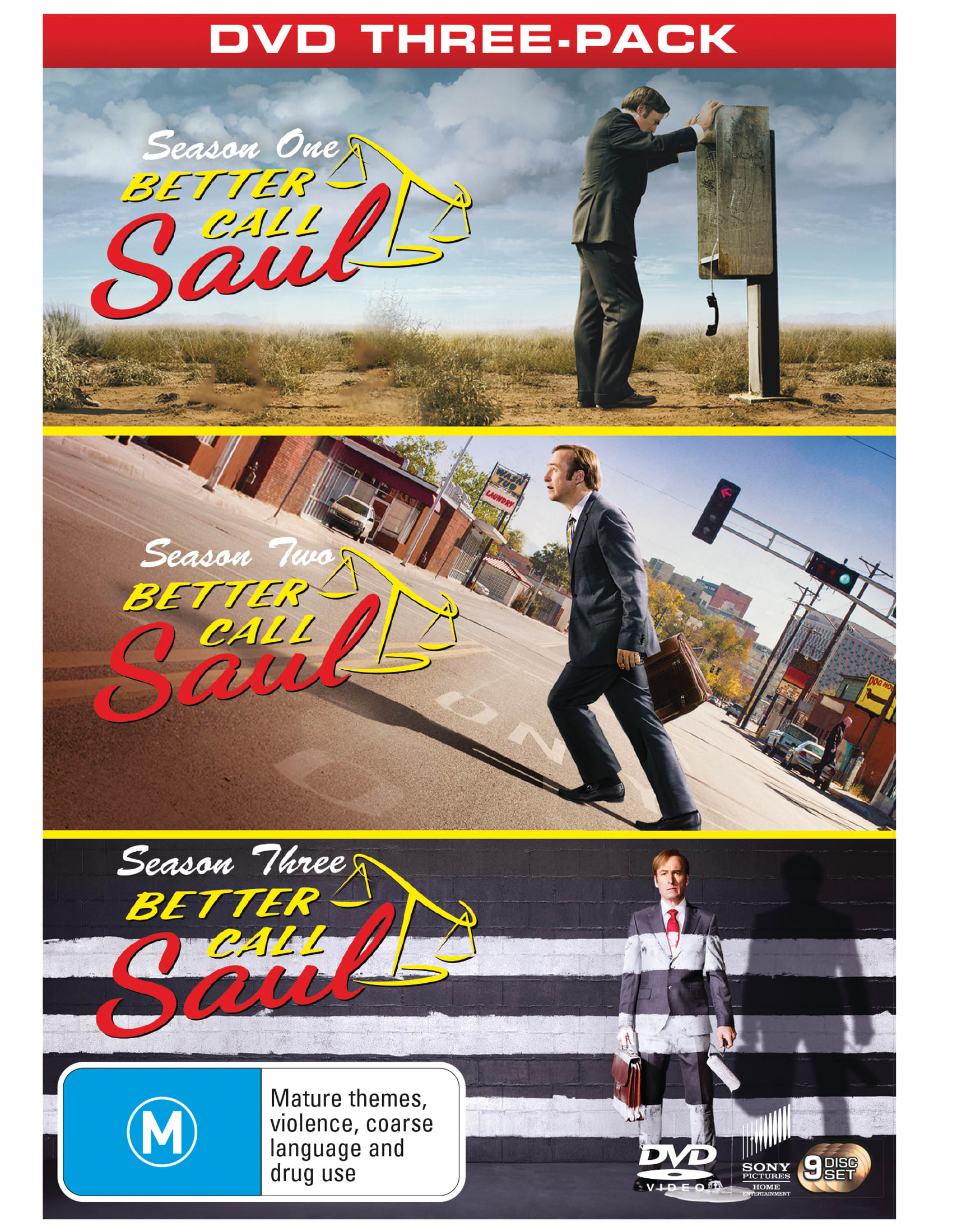 Better Call Saul: Complete Seasons One, Two and Three [DVD]